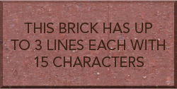 Brick with 3 lines of text