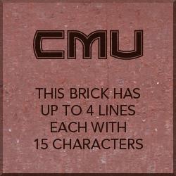 Brick with CMU Logo