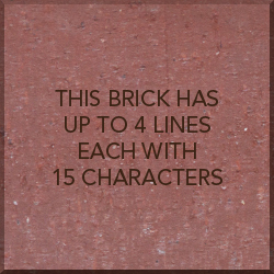 8x8 inch brick with text
